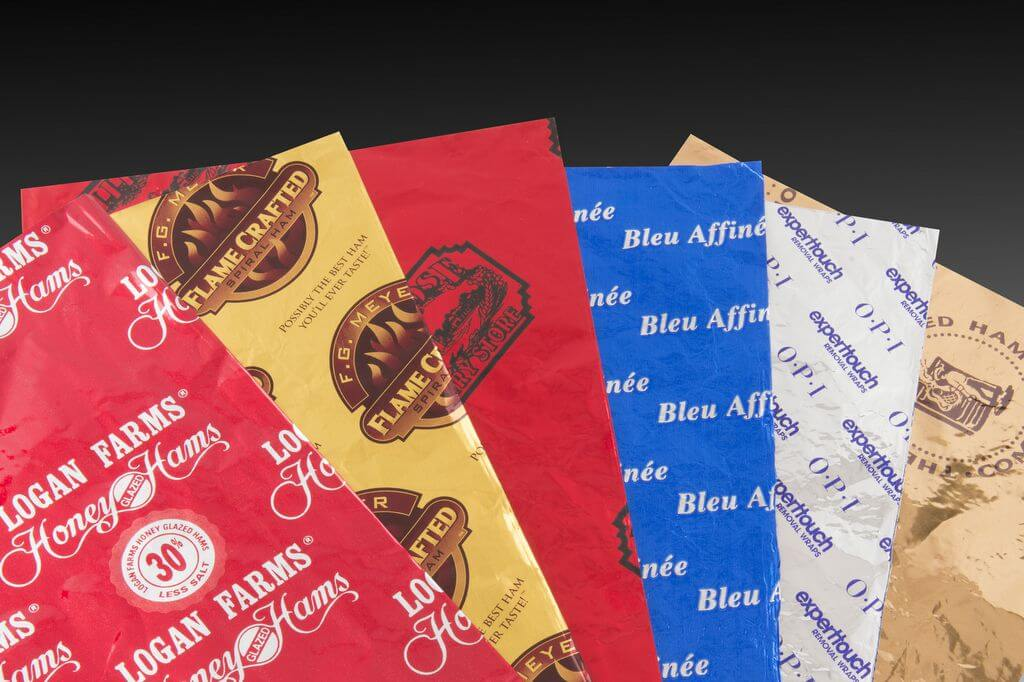 Custom Colored Foils Printed Foils Aluminum Foil Printing
